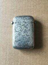 More details for vintage metal pocket vesta match holder/striker