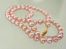 cadeau d'anniversaire ! 6-7mm, rose, perles d'eau douce, collier, 42cm