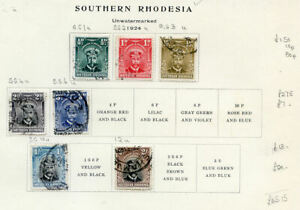 Southern Rhodesia George 5th used collection on 2 pages (2020/05/14#09)