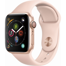 005a39c0d44 Apple Watch Series 4 GPS 40mm Gold Case with Pink Sand Sport Band MU682LL A