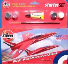 Modellini statici di aerei e veicoli spaziali rosso in plastica, scala 1:72