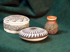 Acoma Polychrome Pottery - 3 Pieces