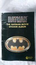 VINTAGE BATMAN Movie STICKER Book Merlin Sticker ALBUM Batman Collectors RARE