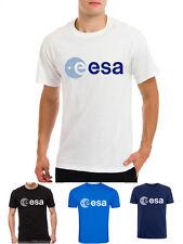 8dac4c6a9 ESA Europe European space agency symbol space nerd geek mens white t-shirt
