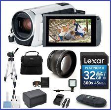 Canon VIXIA HF R800 HD Camcorder (White) 32GB Telephoto PRO Bundle