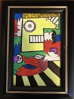 CONTEMPORARY MODERN ABSTRACT ANTONIO AVITIA SIGNED PAINTING ACRYLIC ON CANVAS