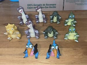 Vintage 1988 Pizza Hut* Land Before Time Puppets* Lot Of 10 Dinosaurs* Look!