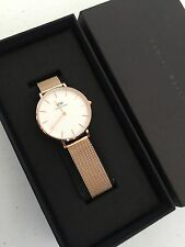 New Daniel Wellington Lady's Classic Petite Melrose 28mm Watch DW00100219 Mesh