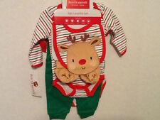 NEW Christmas Cutie 0-3 MO 5-piece Layette Buster Brown Reindeer Unisex Boy/Girl