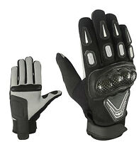 Sport Motorrad Handschuhe Vollfinger Sommer Leder Gloves Gr S M L XL und 2XL