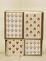 Vintage Canasta Playing Cards Small Flowers Floral Set Congress Designer Series