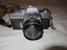 MInolta SRT-202 SLR 35mm camera with a Minolta 45mm lens - Very Good