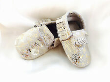 BRAND NEW BABY SHOES PRE-WALKER GENUINE LEATHER MOCASSIN BOOTIES SUPER SOFT