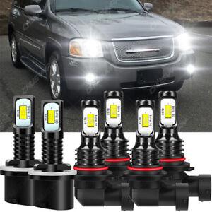Para For GMC Envoy XL 2002 2003 2004 2005 2006 Faros LED +Bombillas antiniebla