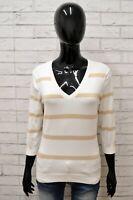 Maglione TOMMY HILFIGER Donna Taglia M Cardigan Pullover Sweater Cotone a Righe