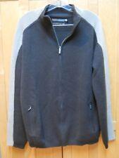 Smart Wool Mens Sweater Jacket Tan Brown Merino Full Zip Cardigan XL