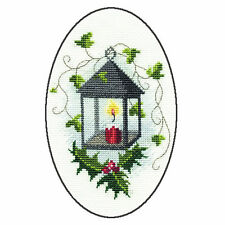Derwentwater Designs Christmas Cross Stitch Card Kit - Lantern
