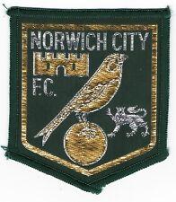 Original Vintage 1970s Football Sew On Patch Norwich City Cloth Badge Unused