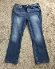 "MOSSIMO Womens Size 12 Short Denim Blue Jeans 30"" Inseam Curvy Boot Cut"