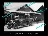 OLD LARGE HISTORIC PHOTO OF DAYBORO QLD THE KELLY BROTHERS STORE c1920
