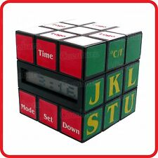 RETRO VINTAGE RUBIK'S MAGIC CUBE LCD ALARM CLOCK / TIME DATE TEMPERATURE DISPLAY