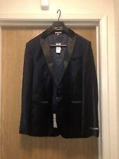 Men's Blue Slim Photographer Blazer Velvet Navy Jacket