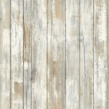 Distressed Wood Wall Decor Peel Stick Bedroom Home Decal Sticker Removable New