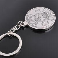 Einzigartige Metall Schlüsselanhänger 50 Jahre Perpetual Calendar Schlüssel E9K6