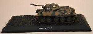 Atlas Editions No.GF03 T-34/76 Russian Medium Tank WWII 1942 1:72 Scale