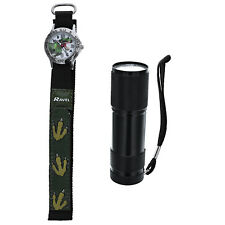 Ravel Dinosaur Watch And Micro Torch Boys xmas Gift Set R4401