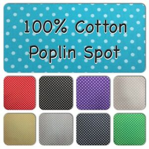 100% Cotton Poplin - Polka Dot - Dressmaking, Patchwork, Crafts etc - Per Metre