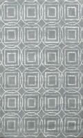 Contemporary Geometric Trellis Indian Area Rug Hand-tufted Wool/ Silk 4x6 Carpet
