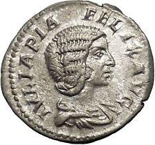 JULIA DOMNA Ancient Silver Roman Coin Diana Lucifera Torch Hope Emblem  i52318