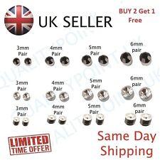 Pair Non Piercing Magnetic Magnet Ear, Nose Stud Fake Earrings BUY 2 Get 1 Free