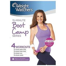 Weight Watchers: 15-MINUTE BOOT CAMP SERIES DVD bootcamp 4 workouts upper lower