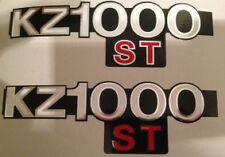 KAWASAKI KZ1000ST SHAFT SIDE PANEL DECALS