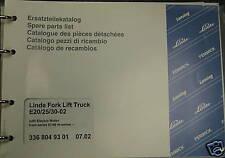 Linde Fork Lift Truck Spare Parts List Manual E25 E30 E30