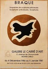 BRAQUE*AFFICHE*LITHO*ORIGINALE*MONTE*CARLO*CARRE*ART*MUSEE*RARE*COLLECTOR