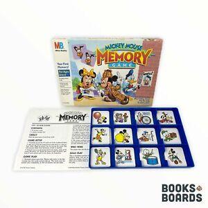 Vintage Disney Mickey Mouse Memory Game | Milton Bradley | 1990 | Complete
