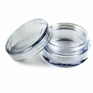 50Pcs Transparent Empty Plastic Cosmetic Sample Small Pots ContainerU9U8 R5B7