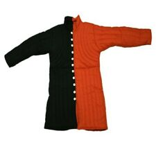 HALLOWEEN Medieval Gambeson Full Sleeves in Black Red Renaissance Latest Cotton