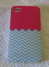 iPhone 4 Pre-owned Used Plastic Soft Case Skin Cover Smartphone Pink Blue Girls