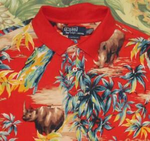 Polo RALPH LAUREN Rhino Print Short Sleeve Shirt Custom Fit XL