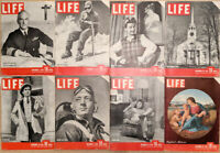 Lot of 16 1942 LIFE Mag- Torpedo Gliders WWII Chaplain Puritan Spirit Draftee