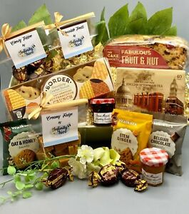 Dads Fathers Day AFTERNOON TEA Hamper Cake Biscuits Gift Box Ladies Men Birthday