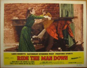 Western Movie 1952 Lobby Card: Ride the Man Down - Brian Donlevy, Rod Cameron