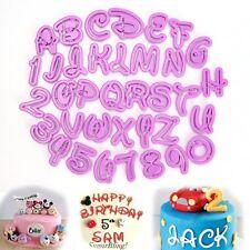 36Tlg. Disney Buchstaben Zahlen Ausstecher Cookie Cutter Fondant Kuchen Deko