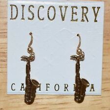 Saxophone Earrings for pierced ears. by Discovery California NWT