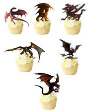 12  Dragons STAND UP Edible Cupcake  Topper Edible Decorations *Pre-Cut*