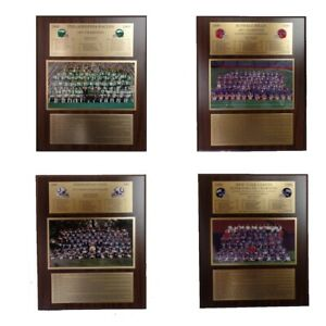 Limited Edition NFL Championship Collectible Plaques